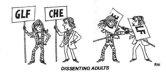 Cartoon from CHE magazine, LUNCH, 1972.