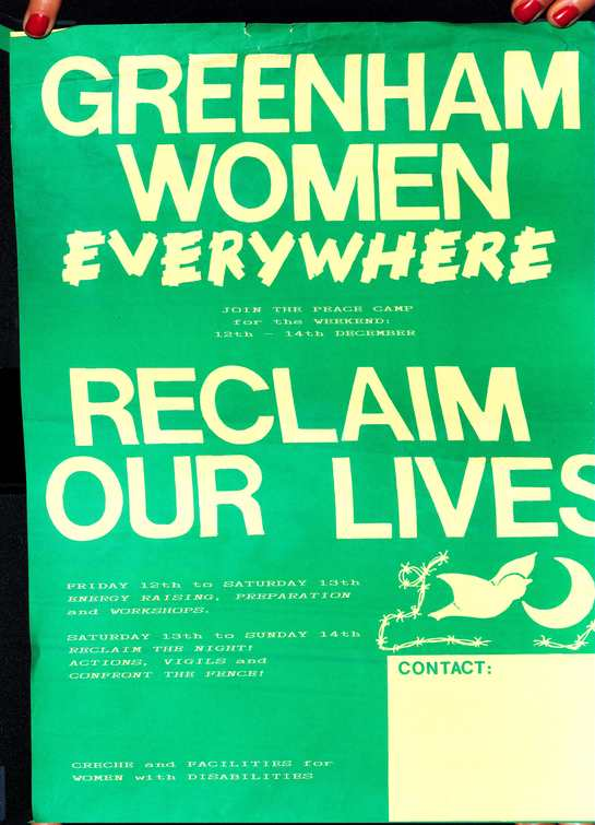 Screen printed poster for Greenham peace camp