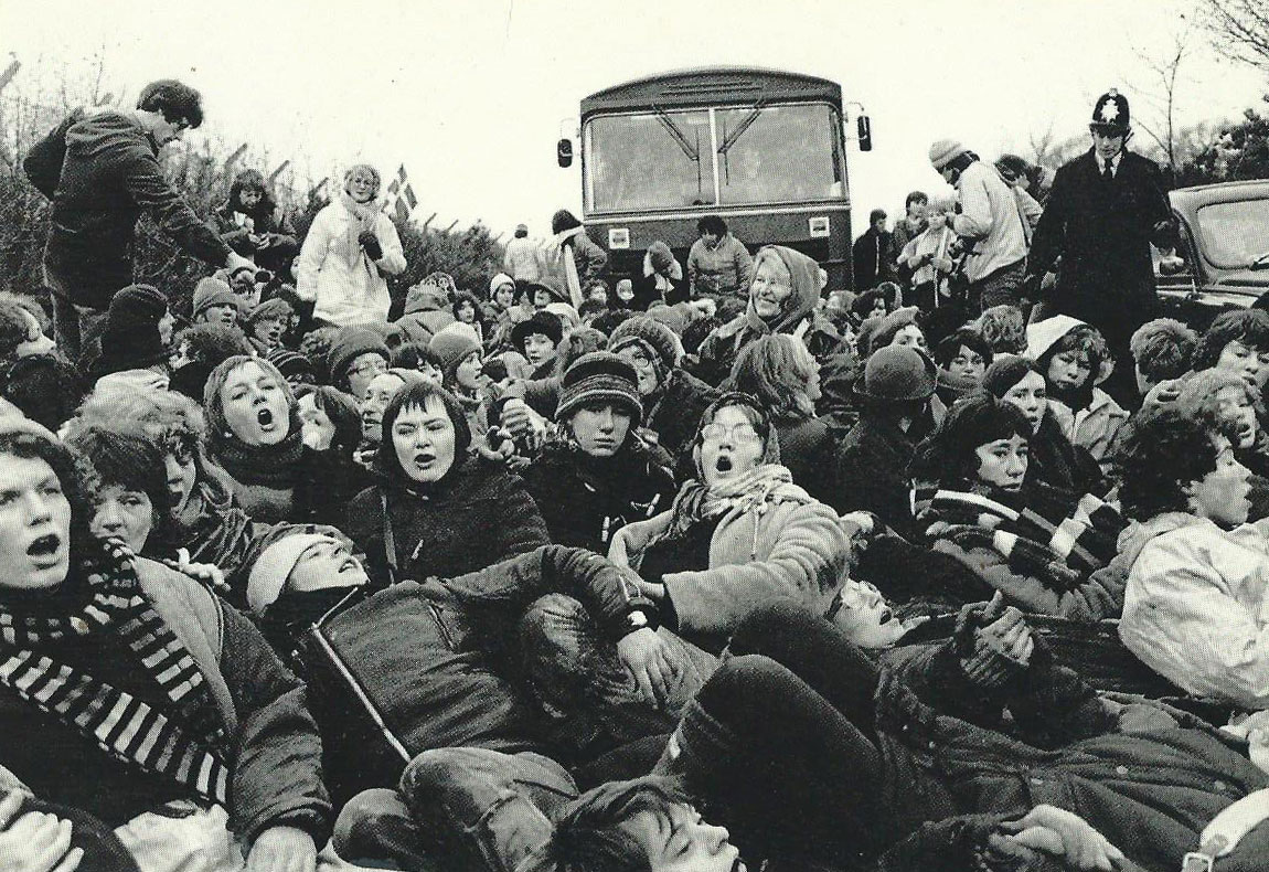 Protesters at Greenham Common